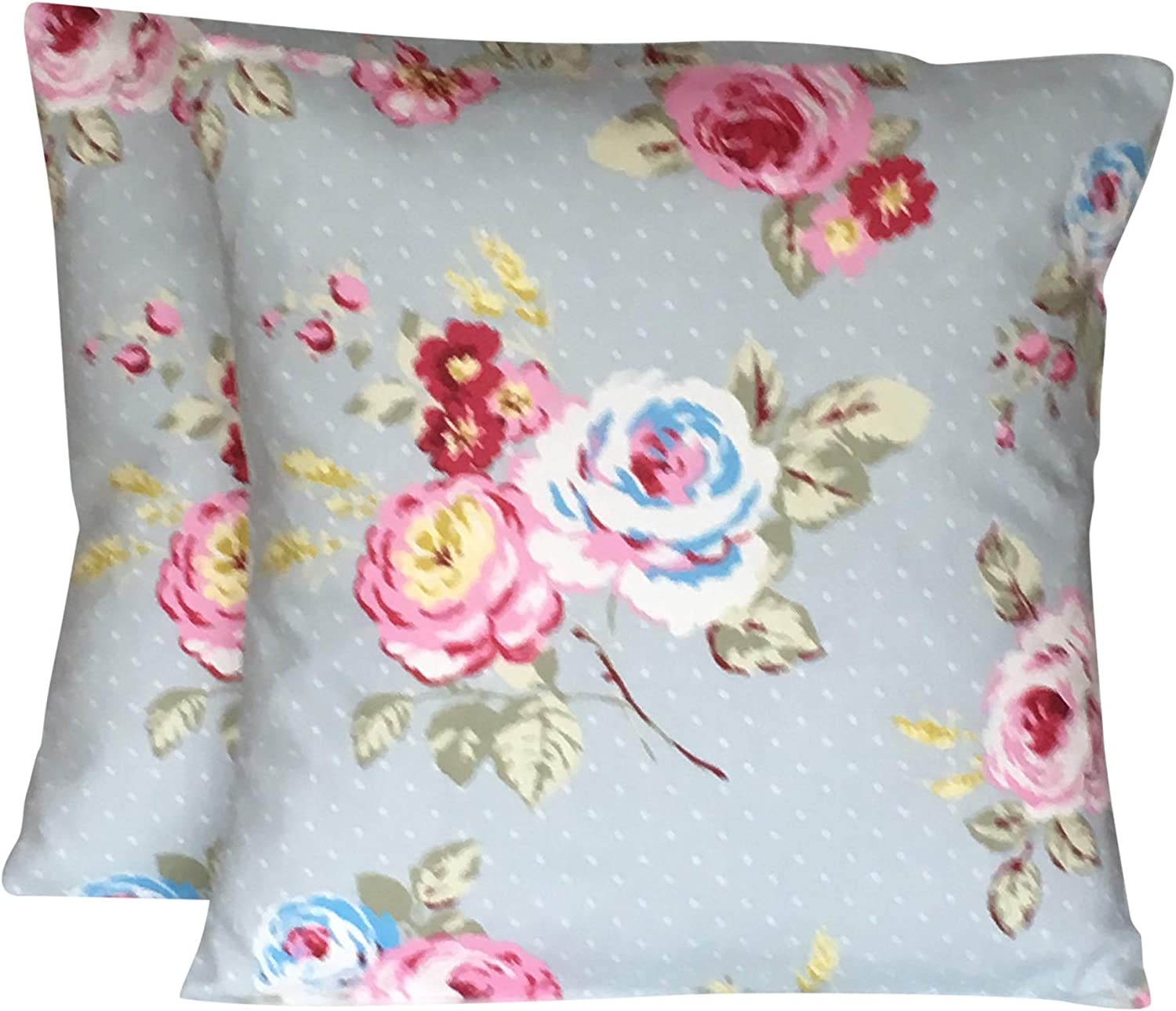 """Clarke and Clarke English Rose Chintz cushion cover 16/"""" or 18/"""""""