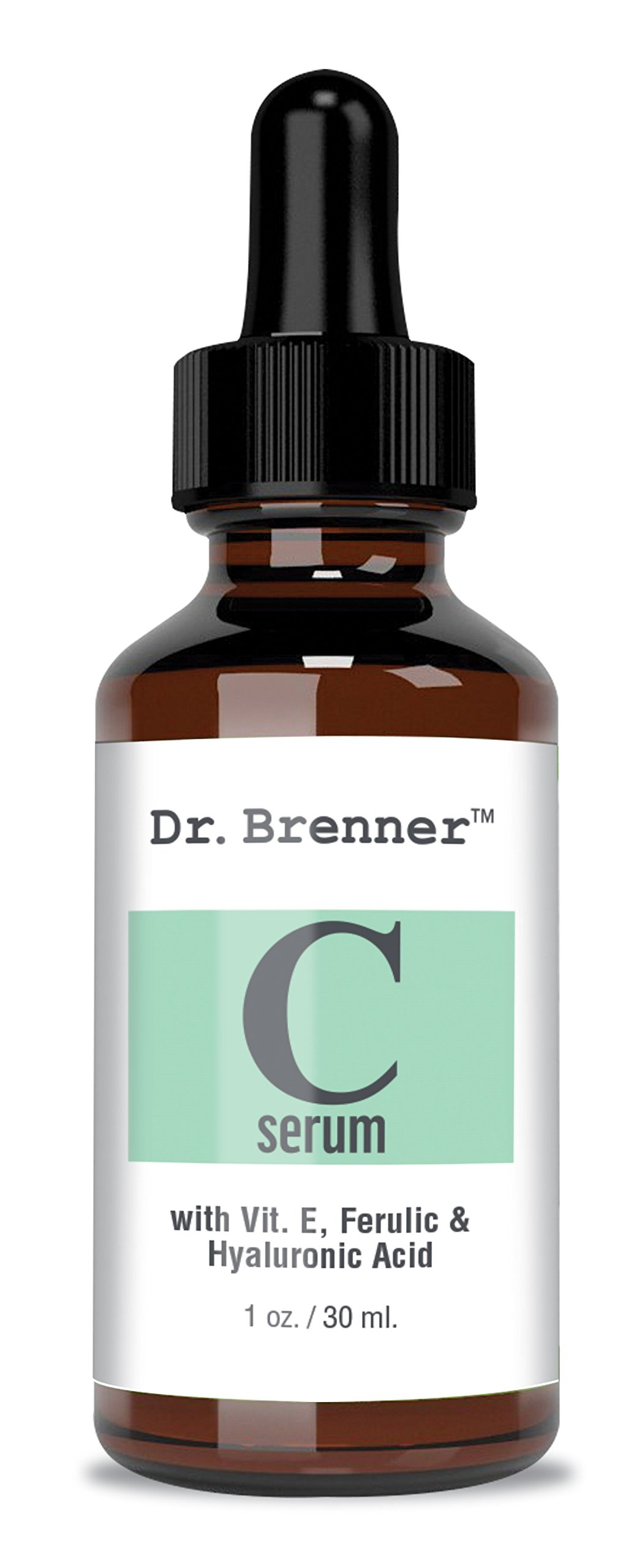 Vitamin C Serum 20% Pure L-Ascorbic Acid, Ferulic Acid, Vitamin E and Hyaluronic Acid for Face and Eyes Natural Anti Aging Anti Wrinkle 1oz. by Dr. Brenner by Dr. Brenner