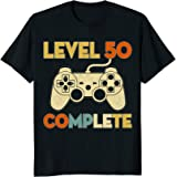 Level 50 Complete 50th Birthday Funny T-Shirt