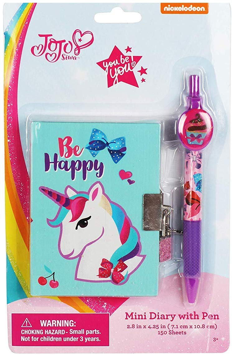 JoJo Siwa Fun Mini Diary with Pen for Girls Be Happy Unicorn Diary and Cupcake Pen FB Products SG/_B07HLCL6FH/_US