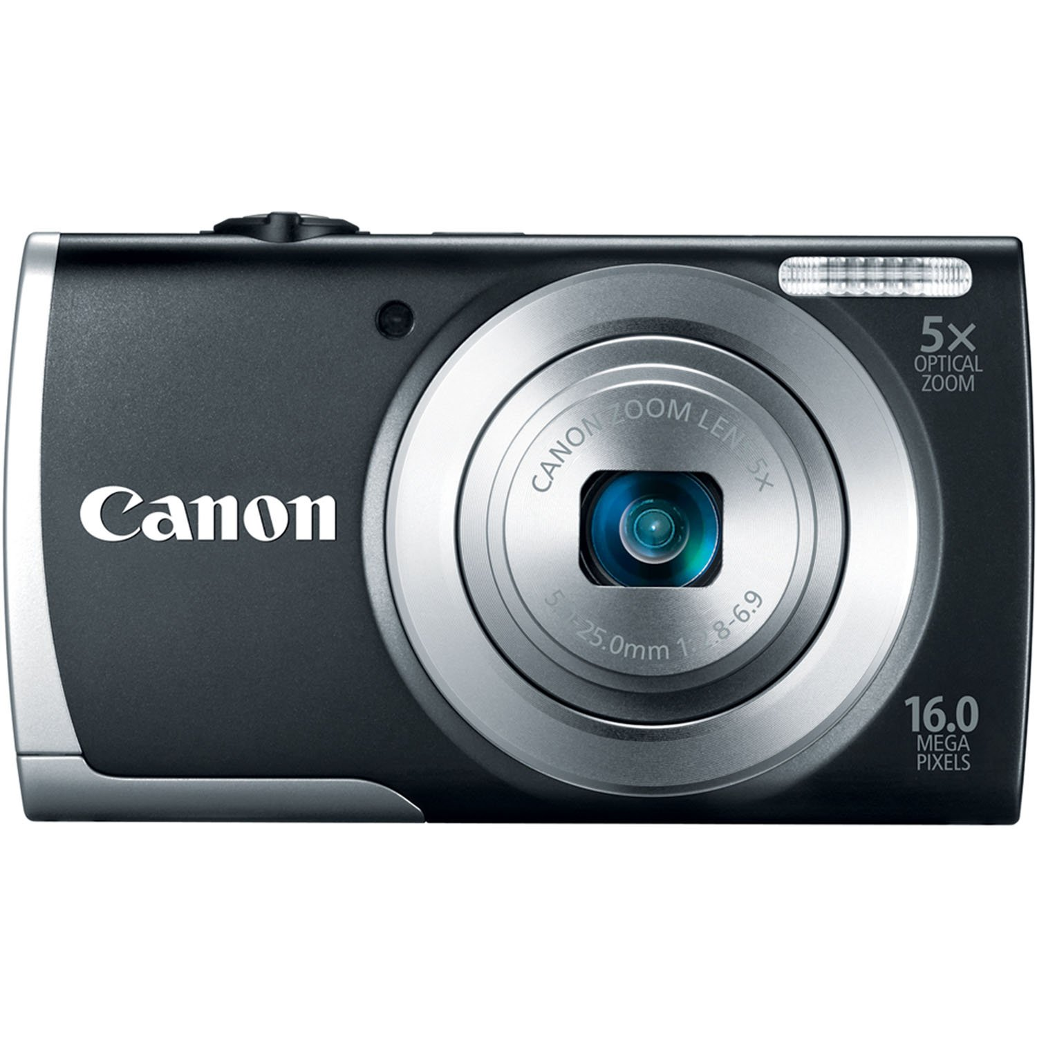 Canon PowerShot A2500 16MP Digital Camera with 5x Optical Image Stabilized Zoom with 2.7-Inch LCD (Black) by Canon