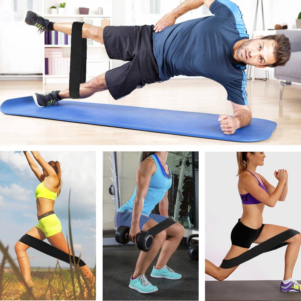 Bandas Ejercicio - Bandas de Resistencia, MeeQee Antideslizante y Nunca Ruede Diseño Loop Fitness Bandas para Yoga, Pilates, Crossfit, Gym, Musculacion, ...