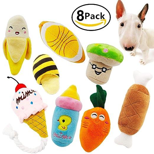 Squeaky Juguetes masticables para perros y gatos, 8 unidades: Amazon.es: Productos para mascotas