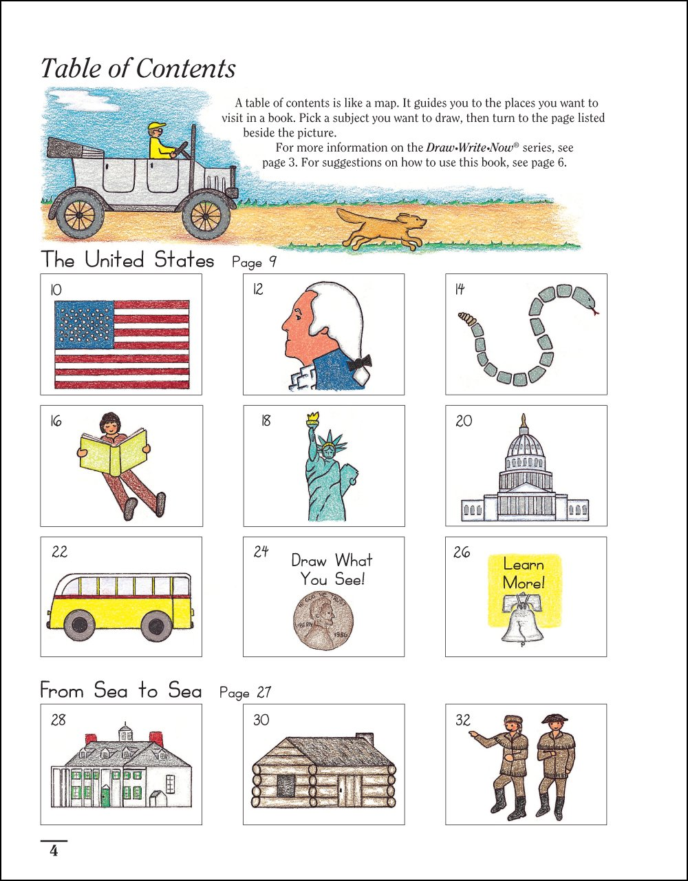 Draw Write Now Book 5 United States From Sea To Sea Moving