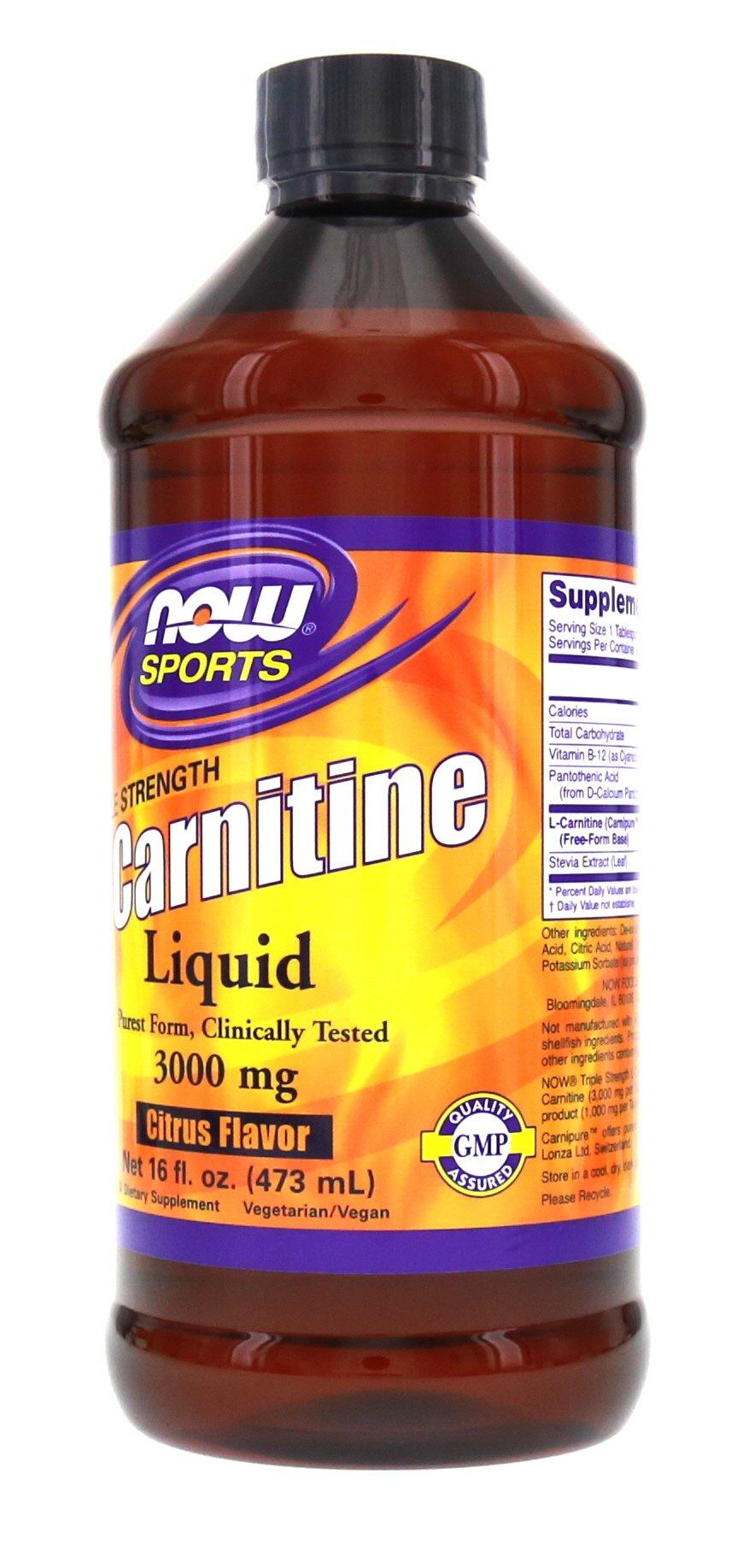 Now Foods L-Carnitine Liquid 3000 mg - 16 oz.. 2 Pack by NOW Foods (Image #2)