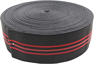 "PBRO Sofa Elastic Webbing Stretch Latex Band Furniture Repair DIY Upholstery Modification Elasbelt Chair Couch Material Replacement Stretchy Spring Alternative Three Inch 3"" Wide x Forty Ft 20"" Roll"