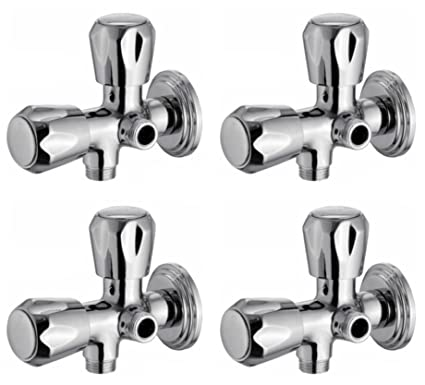 Snowbell Angle Cock 2 in 1 Continental Brass Chrome Plated - Set of 4