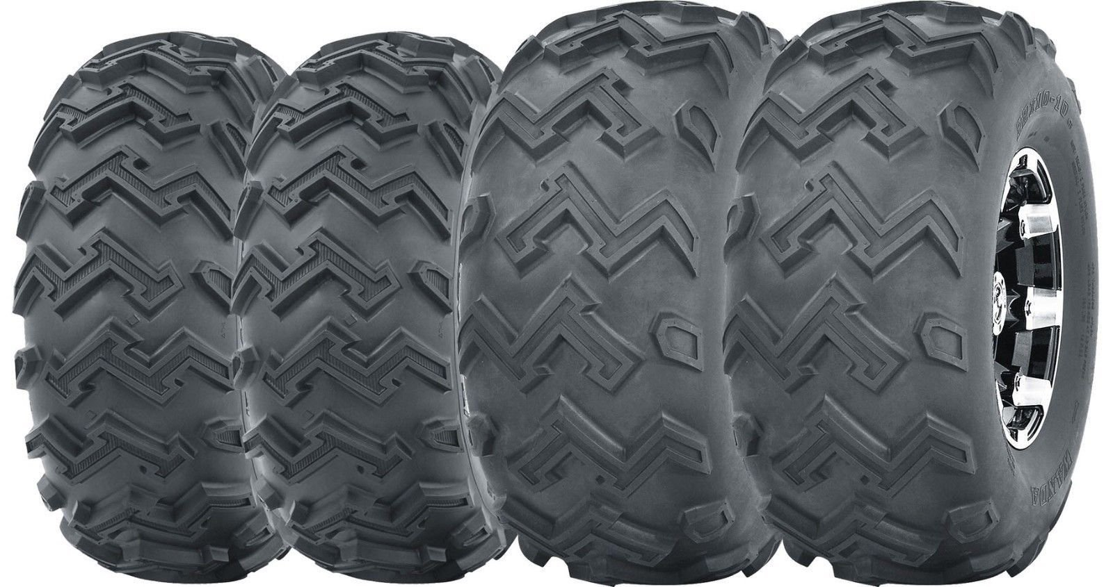 Set of 4 WANDA ATV UTV Tires 22x8-10 Front & 22x11-10 Rear 4PR