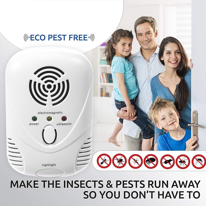 Insectos Mosquitos 2019 Mejorado En Interiores Repelente S/ónico para Ratones Ara/ñas Insectos Hormigas LG/&S Repelente De Plagas Ultras/ónico Multifuncional Cucarachas Moscas