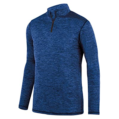 Augusta Sportswear Intensifier pour homme Noir chiné Pull zippé 1/4, bleu marine