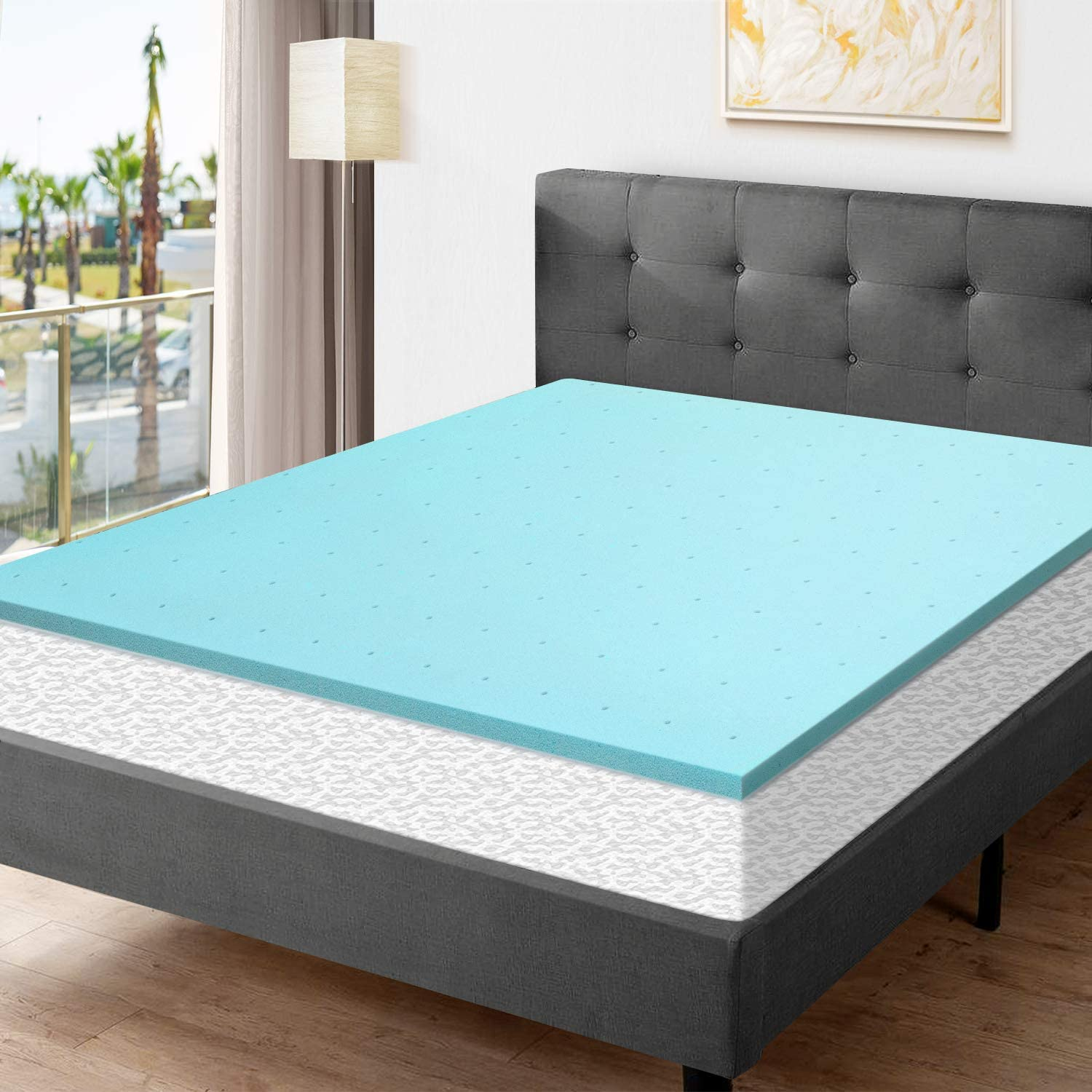 Amazon.com: Momend 2 Inch Full Size Memory Foam Mattress Pad