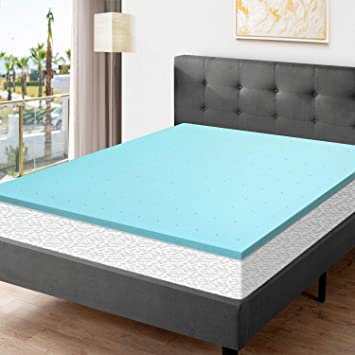 Amazon Com Momend 2 Inch Memory Foam Topper King Size Ventilated