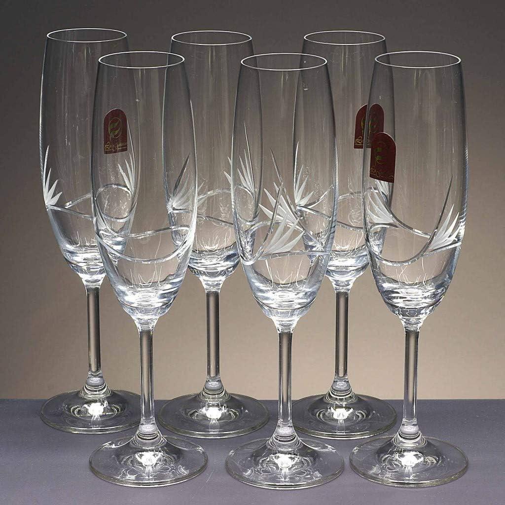 la galaica | Caja 6 Copas de Cristal para champán - Cava o ...