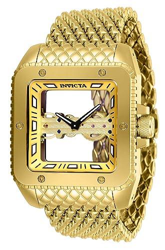Invicta Cuadro Reloj de Hombre Manual Correa de Malla Caja de Acero 28508: Amazon.es: Relojes