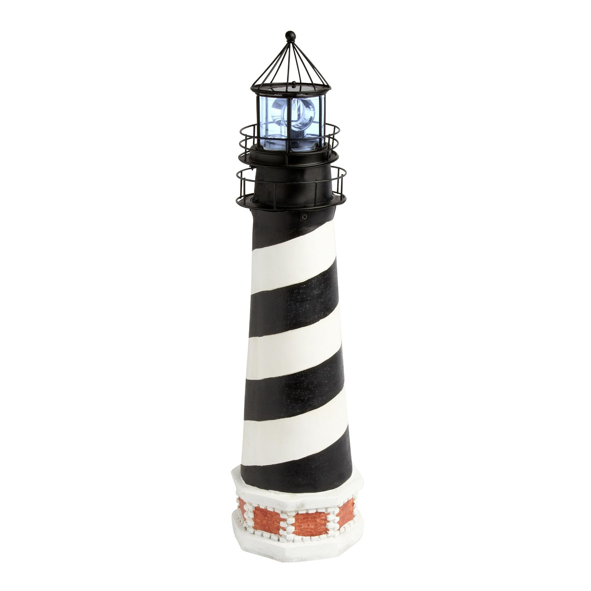 30.25'' Cape Hatteras Style Solar Lighthouse with Rotating Lighted Beacon