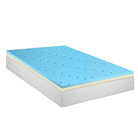 Gel Infused High Density Foam Topper for King Size Mattress - Orthopedic Mattress Pad Reduces Back Pain and Pressure & Keeps You Cool Table Runners at amazon