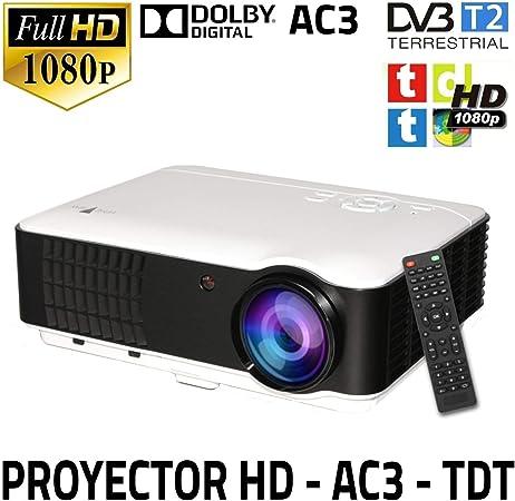 Beamer Fullhd Mit Dvb T Freeview Projektor Unicview Hd200 Mit Dvb T Tunner Hd 2 X Usb 2 X Hdmi Vga Ac3 Decode Sound Heimkino Tv Video