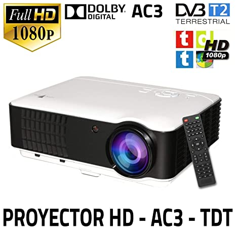 Proyector Unicview HD200, Video Proyector 1080P Full HD, con TDT, USB, HDMI