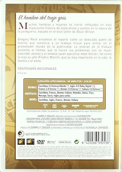 Amazon.com: El Hombre Del Traje Gris (Import Movie ...