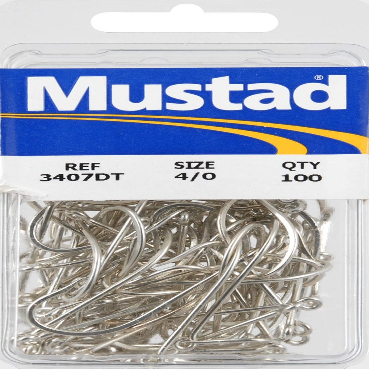 mustad #4 straight shank blued finish light wire 100 count