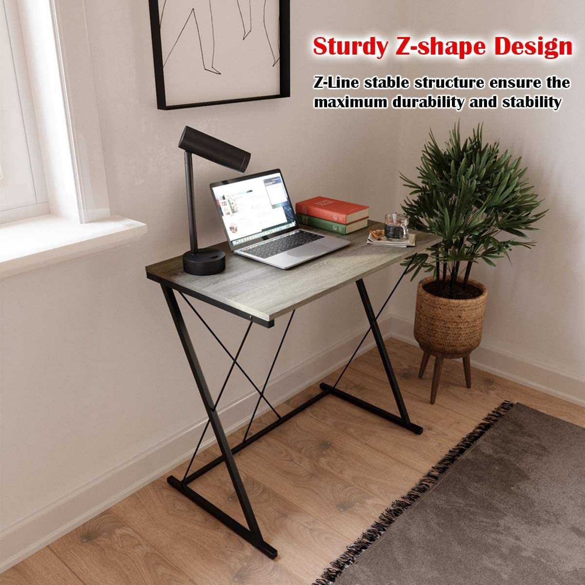 Domy Home Writing Computer Desk Simple PC Laptop Table Workstation for Home Office, Easy Assembly: Kitchen & Dining