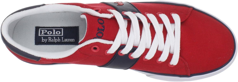 Polo Ralph Lauren Burwood Red Blue Men Trainers Size 44 EU: Amazon ...