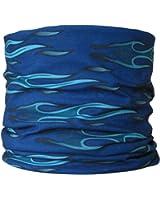 Multifunctional Headwear Blue/Green Flame