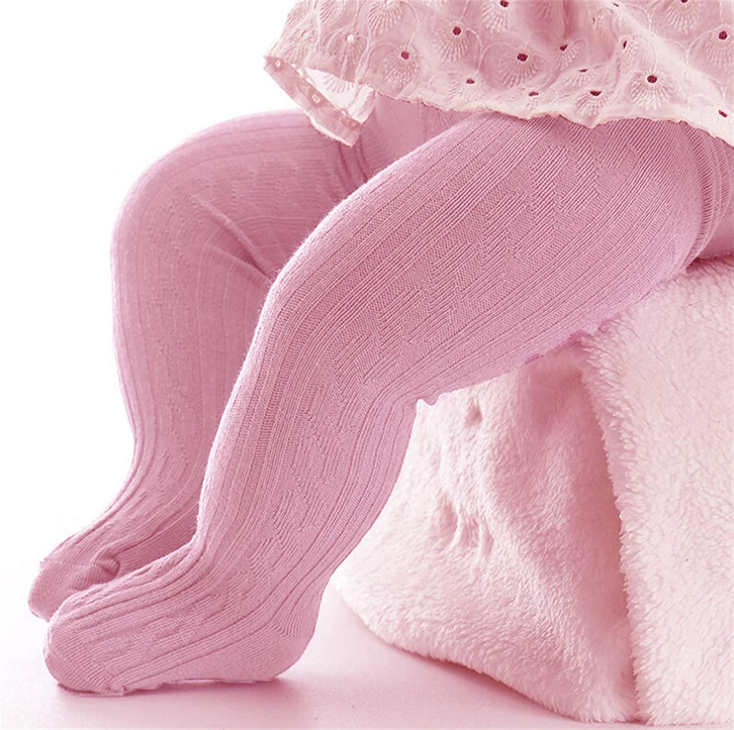 Baby Girls Tights Infant Toddler Seamless Winter Socks Girl Soft Knit Warm Full-Footed Cotton Leggings Pants