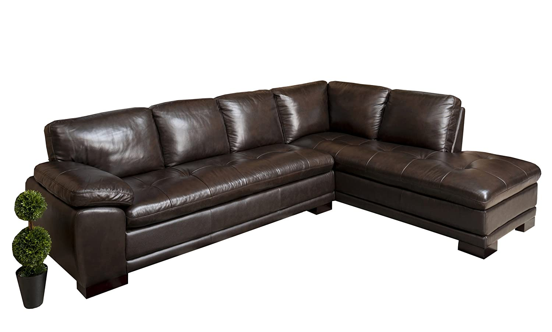 Amazon.com: Tivoli Premium Italian Leather Sectional Sofa By Abbyson:  Kitchen U0026 Dining