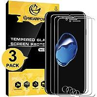 NEARPOW [3 Pack] Mica Protector de Pantalla para iPhone 8/7 Vidrio Cristal Templado