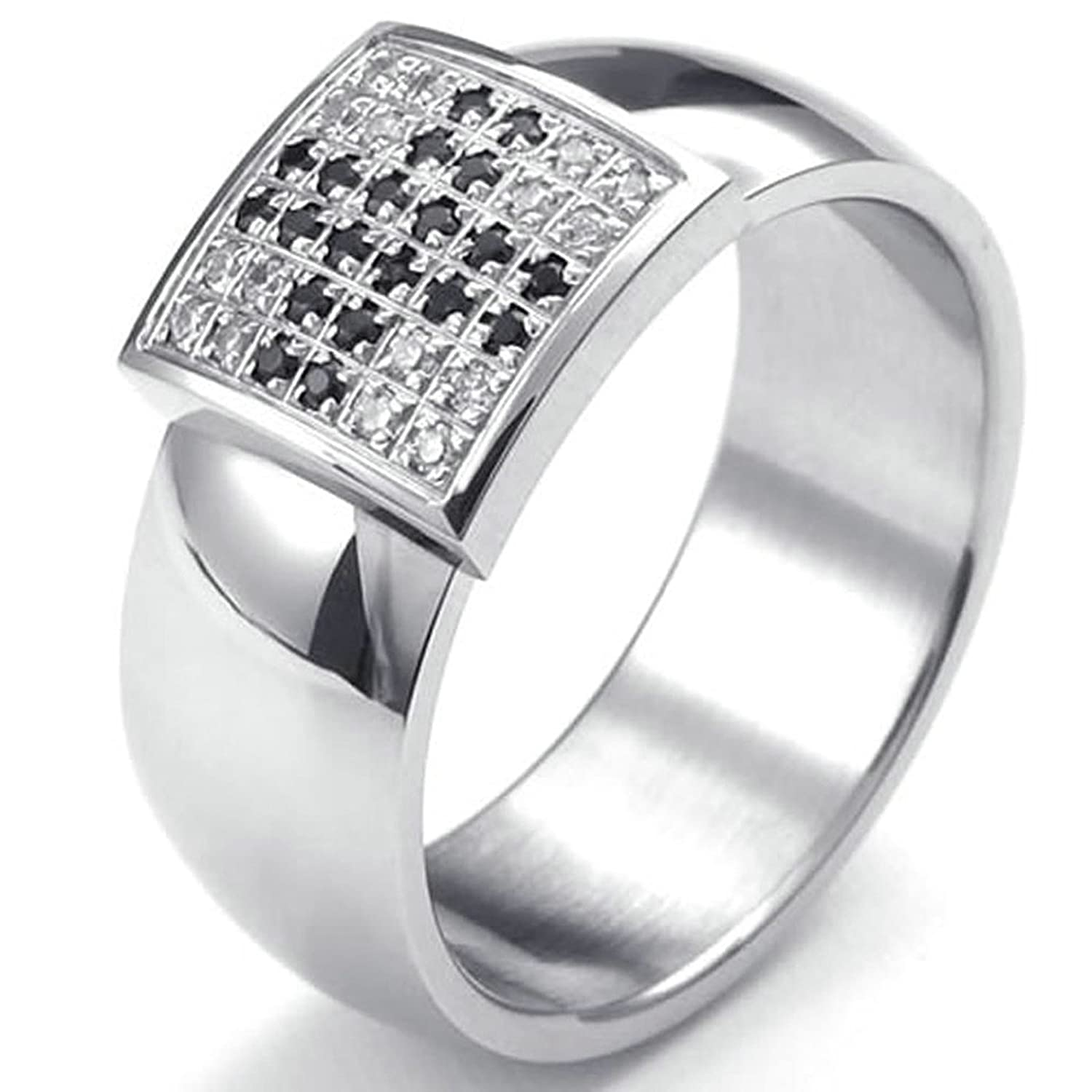 Aooaz Free Engraving Ring 4mm Stainless Steel Ring Gold Plated High Polished Wedding Band