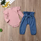 Newborn Baby Girl Clothes Ruffle Knitted Romper