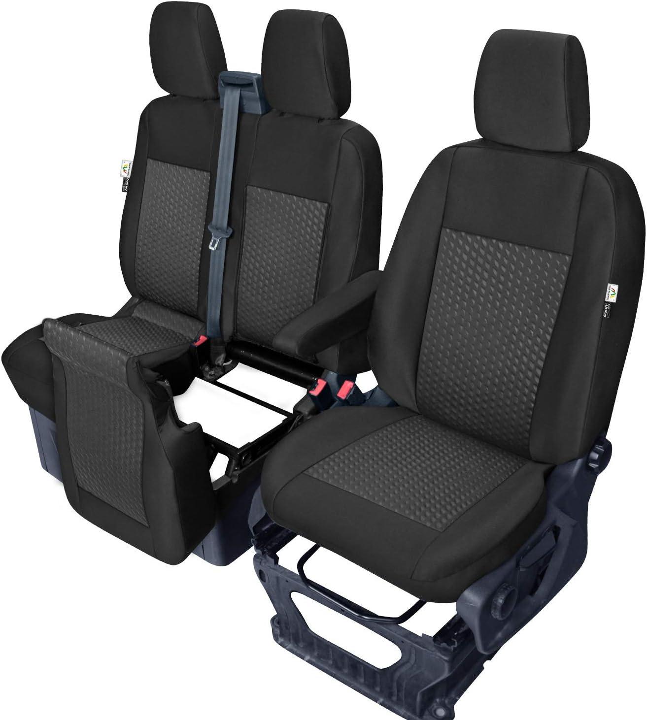 Sitzbezüge Tailor Made Passgenau Kompatibel Mit Ford Transit Ab 2014 Und Ab 2019 Stoffbezüge Neuheit Auto