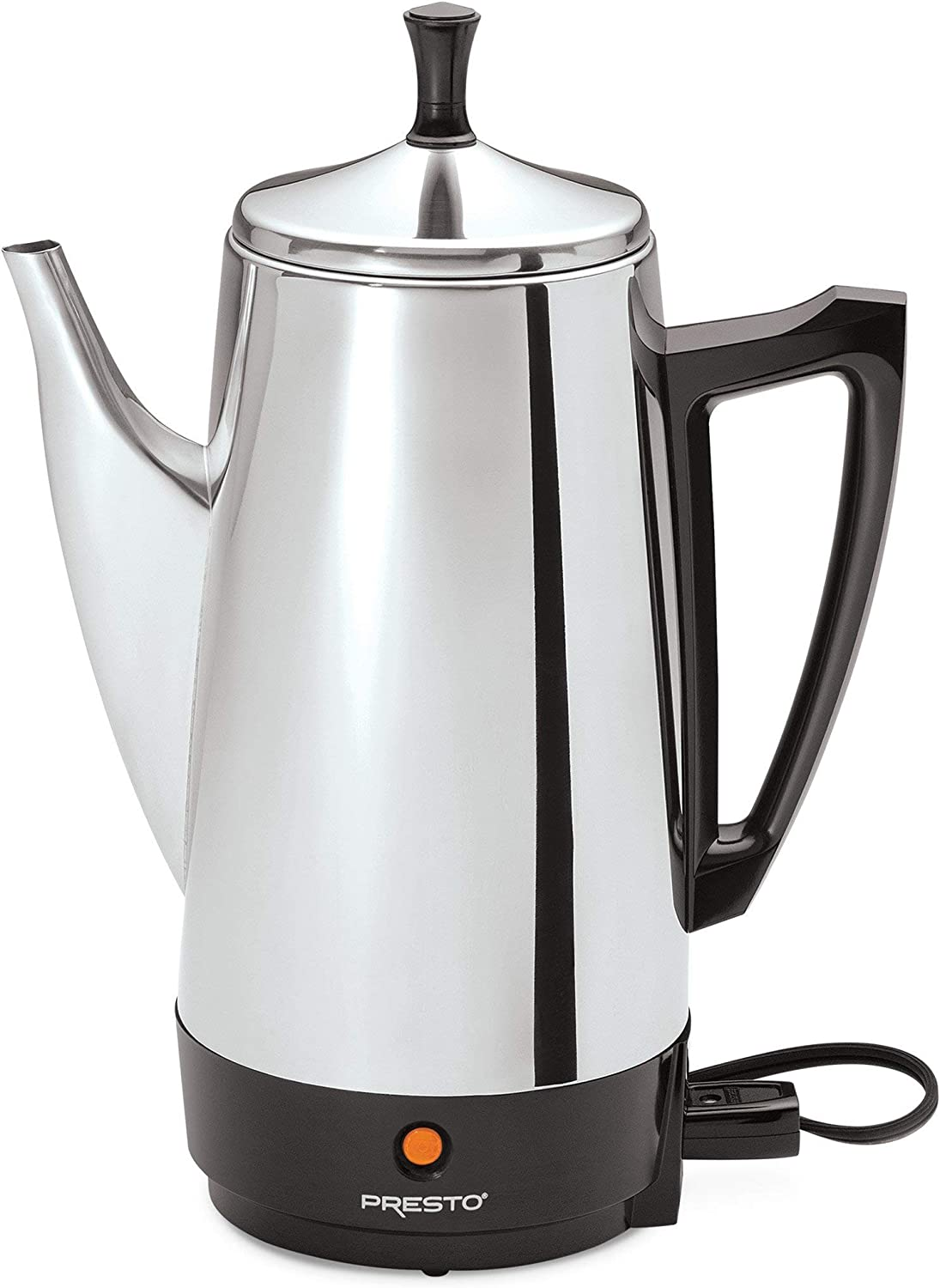 Starfrit 024001-002-0000 12-Cup Electric Drip Coffee Maker, Black Silver