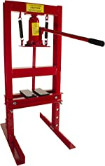 Dragway Tools 6-Ton Hydraulic Shop Floor Press with Press Plates and