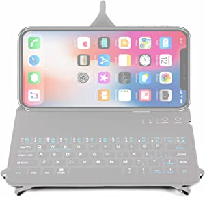 DURAGADGET Slim Black QWERTY Keyboard Case w/Folding Stand (250 x 138 x 15mm) - Compatible with Apple iPhone Xs Max | XS | XR | X | 8 | 7 | 7 Plus | 6S | 6S Plus | 6 | 6 Plus & SE Smartphones