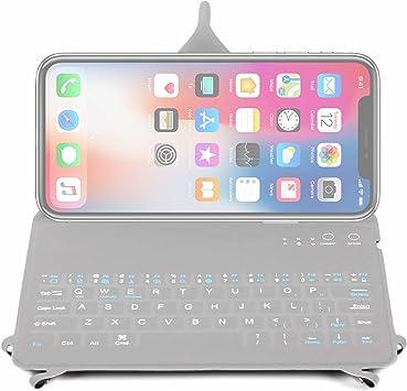 DURAGADGET QWERTY - Funda para teclado con soporte plegable para origami, compatible con Apple iPhone XS Max/XS/XR/X / 8/7 / 7 Plus / 6S / 6S Plus / ...