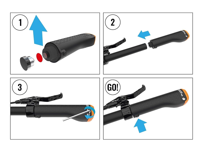 Intermitente para Bicicleta Color Negro BlinkerGrips Serie II