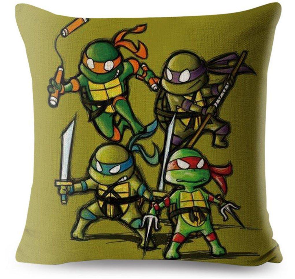 TioCouac Funda cojín Tortugas Ninja - Michelangelo Donatello ...