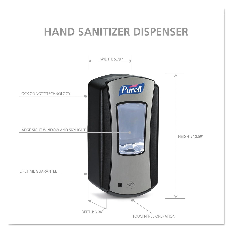 PURELL LTX-12 Dispensador Automático, Metálico/Negro, 1 Unidad: Amazon.es: Industria, empresas y ciencia