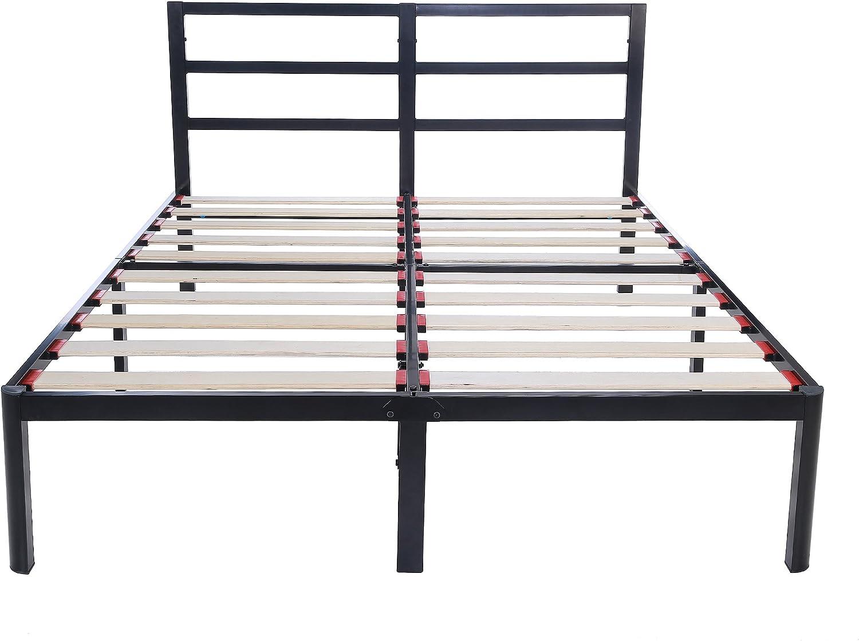 EG EAGOLE 14 Tall Sturdy Wooden Slat 3S Bed frame Platform Bed