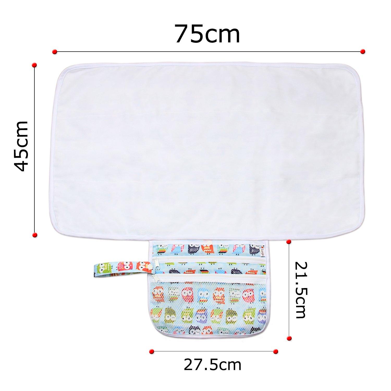 Luxja Manta Plegable para Cambiador Cambiante Portátil de Viaje para Bebé: Amazon.es: Bebé