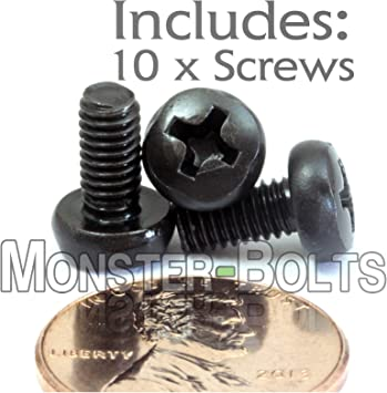 Black Oxide Finish 18-8 Stainless Steel Pan Head Machine Screw Meets DIN 7985 Imported 16 mm Length M4-0.7 Thread Size #2 Phillips Drive Fully Threaded Pack of 50
