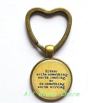Amazon.com: Encantador llavero con forma de corazón, cita ...