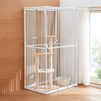 ねこっとハウスⅢ (キャットタワーがすっぽり入る 大型 猫ゲージ)