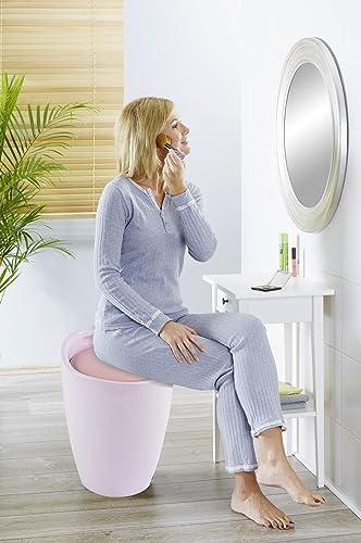 Wenko Bathroom stool Candy Rose, 14.2 x 19.9 x 14.2 inch