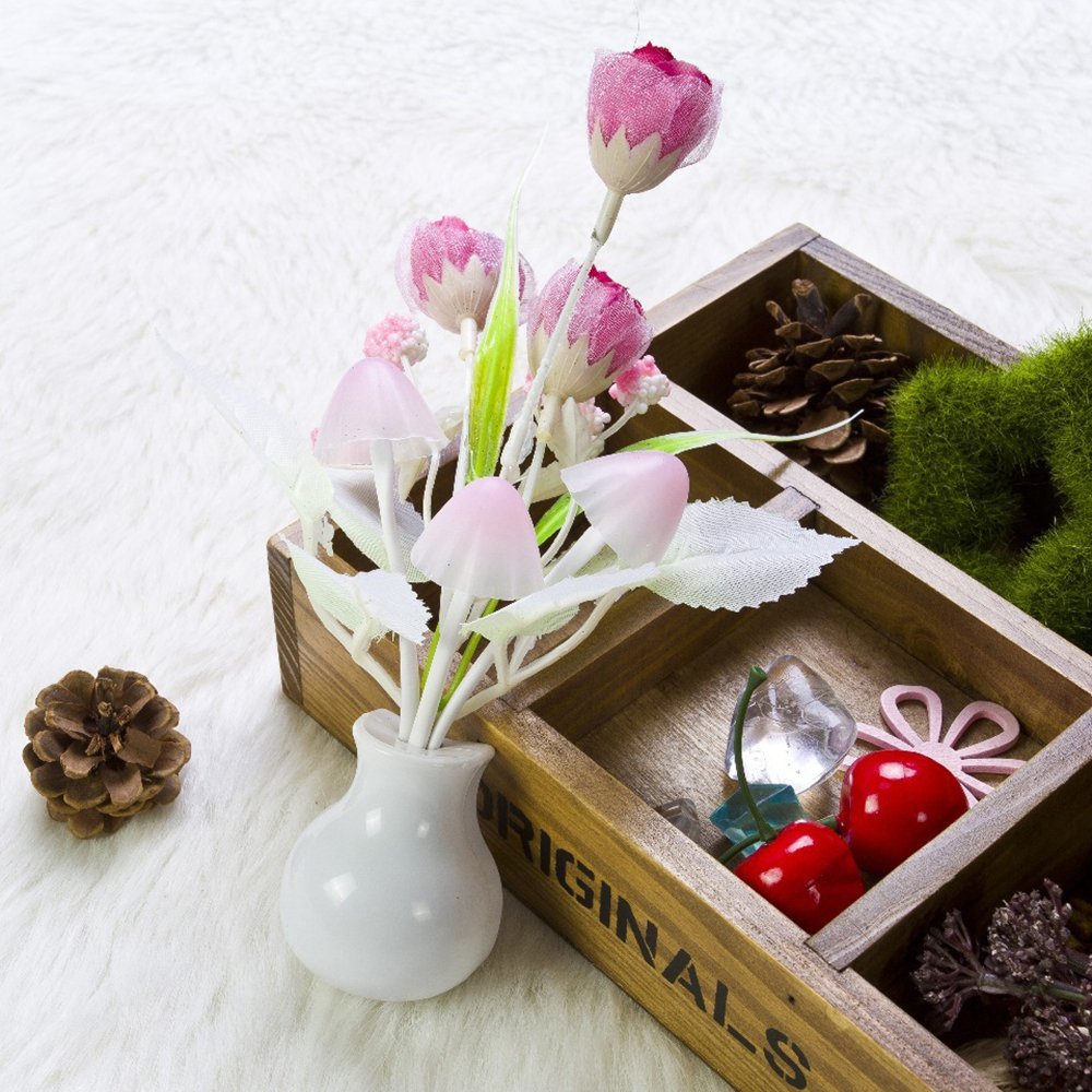 Gilroy Tulip Flower LED Night Light Soft Romantic Sensor Lamp for Home Decor by Gilroy (Image #6)