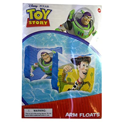 Disney Pixar Buzz and Woody Toy Story Arm Floats - Toy Story Swim Gear - Toy Story Floaties: Toys & Games