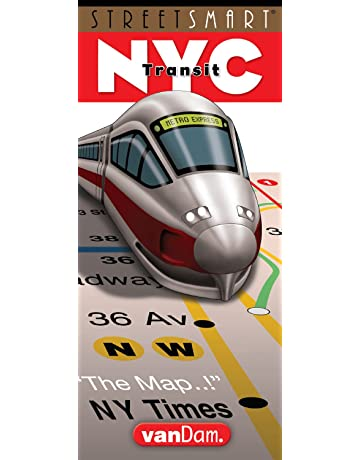 StreetSmart NYC Transit Map by VanDam -- Laminated City Transit Map of the NYC Subway