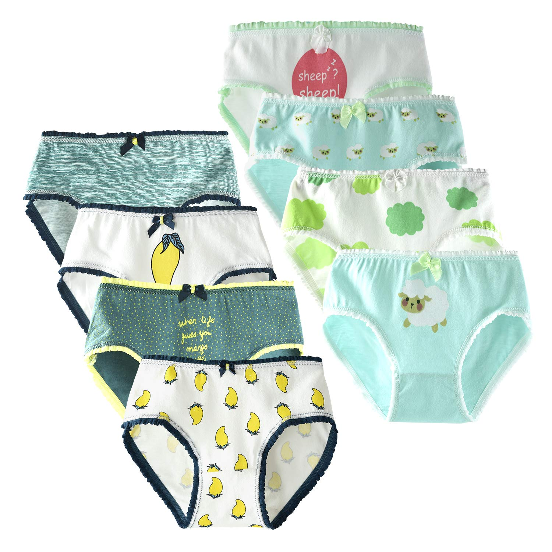 slaixiu Cotton Girls Underwear Cartoon Kids Briefs Panties 2-18T
